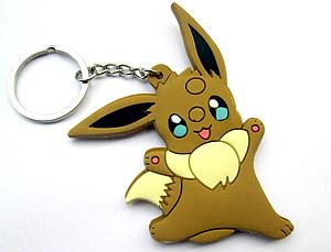 Pokemon Keychain Eevee (Rubber) Jumping