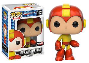 Pop! Games Mega Man Vinyl Figure Mega Man Fire Storm #102 Gamestop / EB Games Exclusive