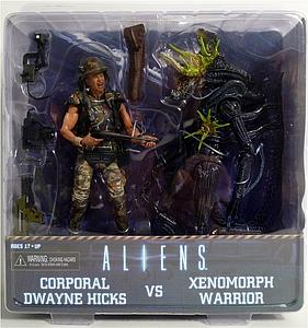 "Aliens 7"" 2-Pack Set: Hicks vs. Damaged Blue Alien Warrior"