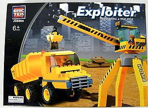 Brictek Exploiter Construction Set: Crane & Truck