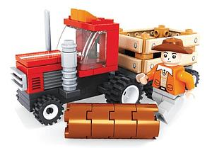 Brictek Farm Set: Tractor Trailer
