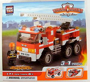 Brictek Fires Center Set: Fire Engine