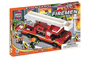 Brictek Firemen Fire Fight Series Set: Fire Engine