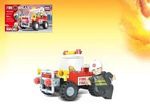 Brictek Fire Brigade Department Set: Fireman Jeep