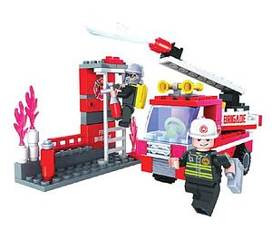 Brictek Fire Brigade Department Set: Fire Truck Simulator