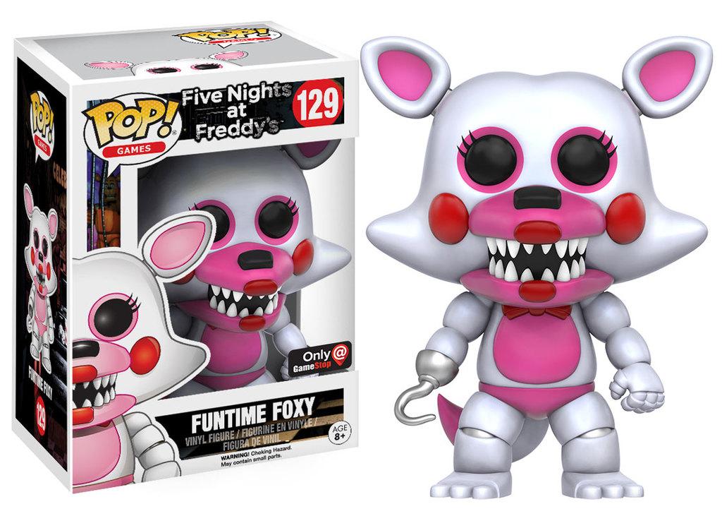 Pop! Games Five Nights at Freddy's Vinyl Figure Funtime Foxy #129 EB Games  / GameStop Exclusive