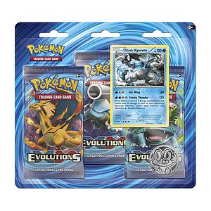 Pokemon Trading Card Game: XY12 Evolutions 3-Pack Blister (Black Kyurem)
