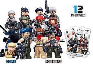 Police Minifigures: Cops & Robbers