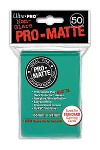 Card Sleeves 50-pack Non-Glare Pro-Matte Standard Size: Aqua