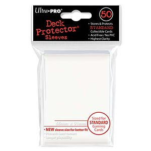 White Standard Card Sleeves (66mm x 91mm)