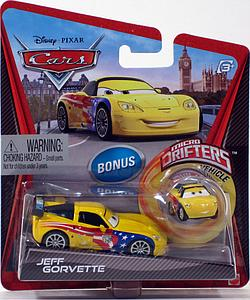 Mattel Disney Cars Die-Cast 1:55 Scale Toy: Jeff Gorvette (w/ Micro Drifters)