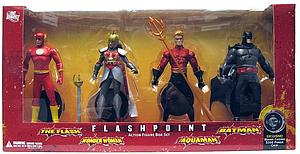 DC Direct Flashpoint The Flash 6 Inch Series 1 The Flash, Wonder Woman, Aquaman, Batman Box Set
