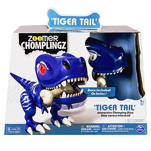 Zoomer Chomplingz - Tiger Tail Interactive Dinosaur - Blue