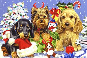 The World's Smallest Jigsaw Puzzle: Yule Pups