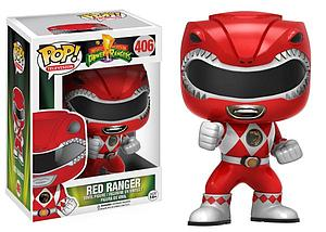 Pop! Television Power Rangers Vinyl Figure Red Ranger (Action Pose) #406 (Vaulted)