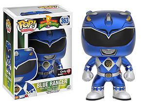 Pop! Television Power Rangers Vinyl Figure Blue Ranger (Metallic) #363 GameStop / EB Games Exclusive
