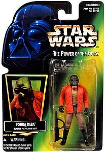 Star Wars The Power of the Force Ponda Baba with Blaster Pistol and Rifle