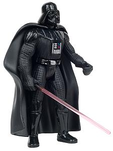 "Star Wars The Power of the Force 3.75"" Action Figure Darth Vader with Lightsaber and Removable Cape"