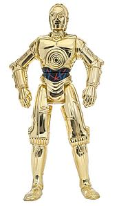 "Star Wars The Power of the Force 3.75"" Action Figure C-3PO with Realistic Metalized Body (Bilingual Package)"