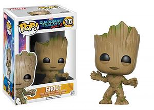 Pop! Marvel Guardians of the Galaxy 2 Vinyl Bobble-Head Groot #202 (Rare)