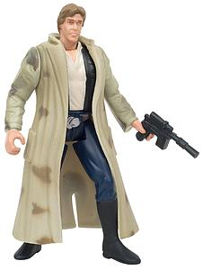 Star Wars The Power of the Force: Han Solo in Endor Gear with Blaster Pistol