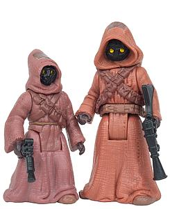 "Star Wars The Power of the Force 3.75"" Action Figure Jawas with Glowing Eyes and Blaster Pistols"