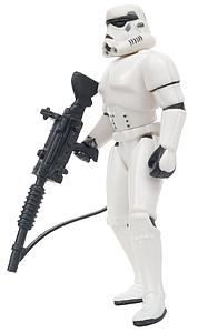 "Star Wars The Power of the Force 3.75"" Action Figure Stormtrooper with Blaster Rifle and Heavy Infantry Cannon (Trilingual Package)"