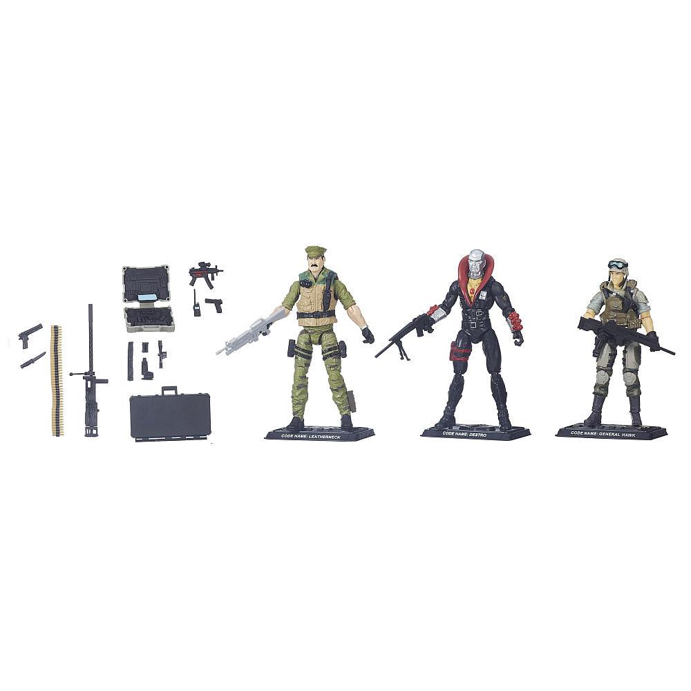 Joe The Eagles Edge Pack 50th Anniversary ~ Leatherneck Destro /& General Hawk G I Joe 630509252473 G.I