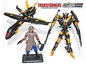 G.I. Joe Transformers Old Snake with Advanced Stealth B.A.T Duo Transformers Collector's Club Exclusive