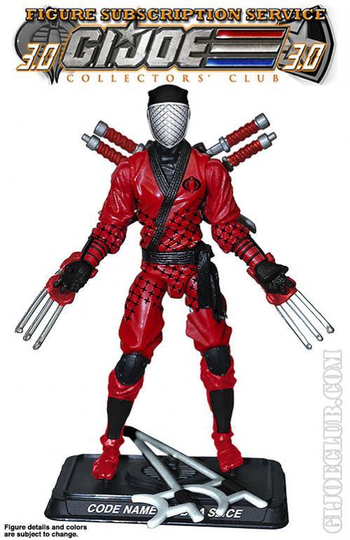 G I  Joe Cobra Ninja Commando Cobra Slice Collector Club Exclusive