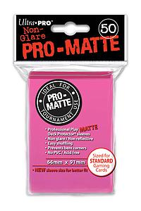Card Sleeves 50-pack Non-Glare Pro-Matte Standard Size: Bright Pink