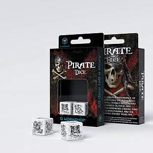 D6 White-Black Pirate dice (2)