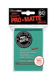 Card Sleeves 60-pack Non-Glare Pro-Matte Small Size: Aqua