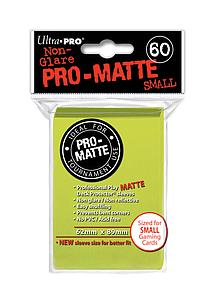 Non-Glare Pro-Matte: Bright Yellow Small Card Sleeves (62mm x 89mm)