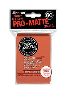 Card Sleeves 60-pack Non-Glare Pro-Matte Small Size: Peach