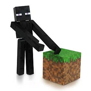 "Minecraft 3"" Figures Series 1: Enderman with Accessory"