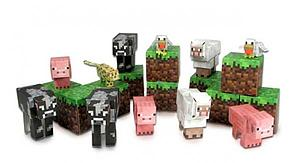 Jazwares Minecraft Papercraft Set: 30pc Animal Mobs