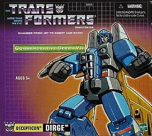 Transformers G1 Commemorative Series VII (7) Decepticon Dirge