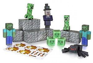 Jazwares Minecraft Papercraft Set: 30pc Hostile Mobs