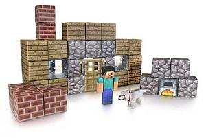 Jazwares Minecraft Papercraft Set: 48pc Shelter Set
