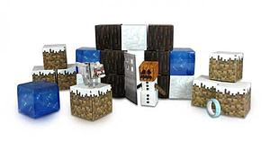 Jazwares Minecraft Papercraft Set: 48pc Snow Set