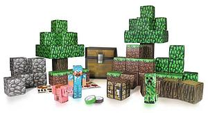 Jazwares Minecraft Papercraft Set: 90pc Overworld Deluxe Set