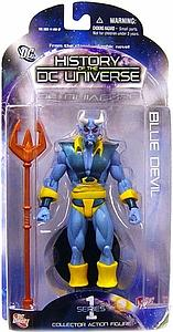 "DC Direct History of the DC Universe Blue Devil 6"" Series 1 Blue Devil"