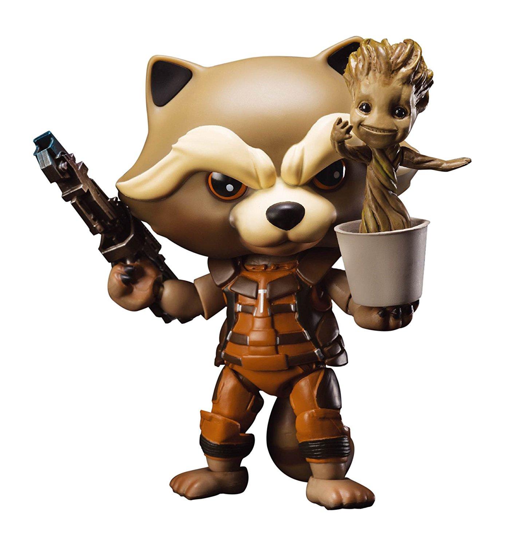 Rocket Raccoon /& Dancing Groot Egg Attack Action EAA-023 Action Figure