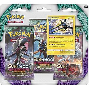 Pokemon Trading Card Game: Sun & Moon Guardians Rising 3-Pack Blister (Vikavolt)