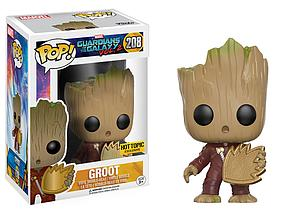 Pop! Marvel Guardians of the Galaxy Vol. 2 Vinyl Bobble-Head Groot (Jumpsuit) (Patch) #208 Hot Topic Exclusive
