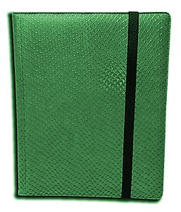 9 Pocket Side Loading Binder: Green (Dragonhide)