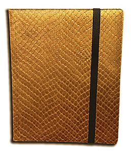 9 Pocket Side Loading Binder: Gold (Dragonhide)