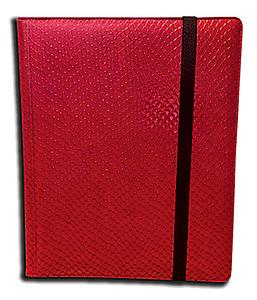 9 Pocket Side Loading Binder: Red (Dragonhide)