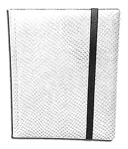 20 Page Side Loading Pro-Binder: White (Dragon Textured)